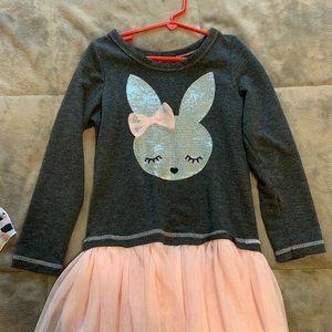 Cute Bunny Casual Long Sleeve Dress